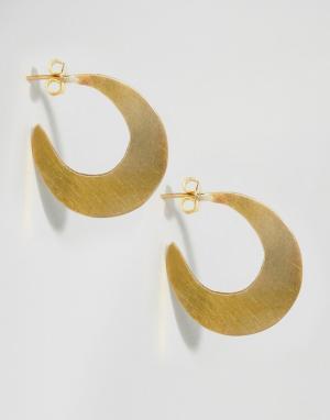 Made Серьги-кольца. Цвет: золотой