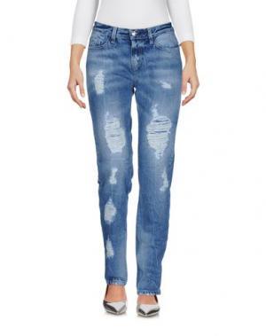 Джинсовые брюки FRANKIE MORELLO. Цвет: синий