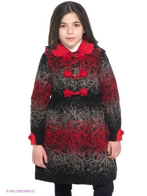 Пальто Baby Steen. Цвет: черный, красный, серый