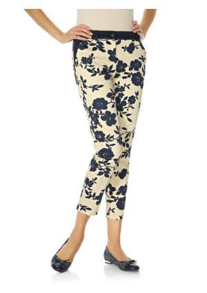 Моделирующие брюки ASHLEY BROOKE by Heine. Цвет: серый/белый