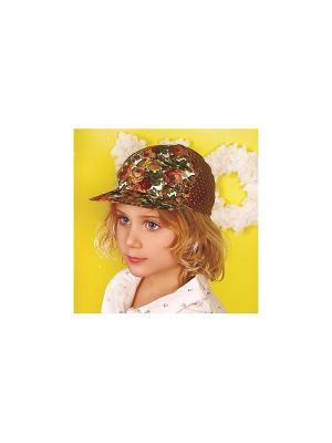 Кепка для девочки DEMBOHOUSE. Цвет: коричневый