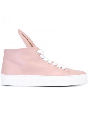 Хайтопы Bunny Minna Parikka. Цвет: розовый и фиолетовый