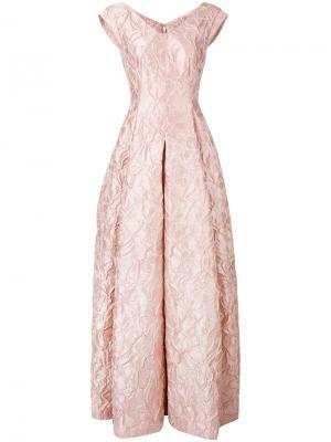 Вечернее платье Notion Talbot Runhof. Цвет: розовый и фиолетовый