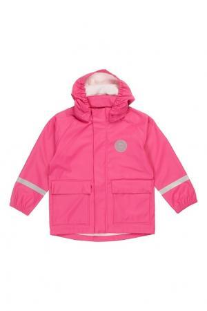 Розовый дождевик Reima. Цвет: розовый
