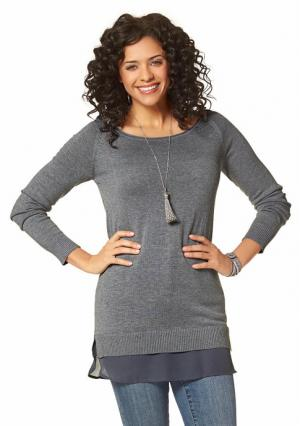 Пуловер BOYSENS BOYSEN'S. Цвет: бежевый меланжевый, пудрово-розовый, серый меланжевый, черный