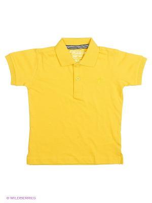 Футболка-поло MANAI. Цвет: желтый
