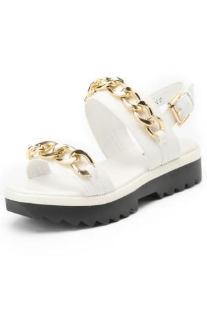 Туфли летние открытые RIDLSTEP. Цвет: белый