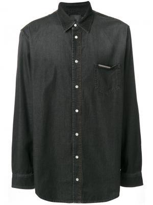 Джинсовая рубашка Philipp Plein. Цвет: чёрный