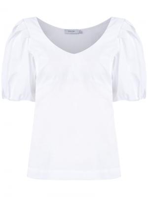 Блузка с объемными рукавами Isolda. Цвет: белый