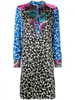 Платье-рубашка с вышивкой Duro Olowu. Цвет: многоцветный