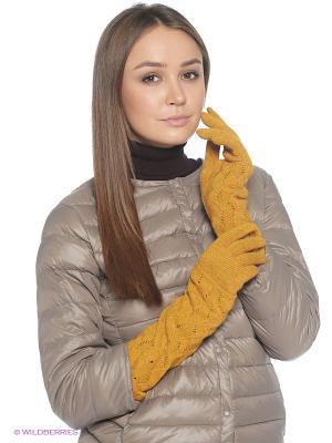 Перчатки FOMAS. Цвет: горчичный