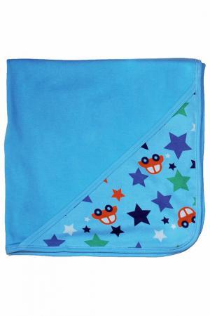 Одеяло с капюшоном Frugi. Цвет: голубой