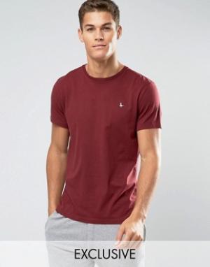 Jack Wills Бордовая футболка классического кроя Sandleford. Цвет: красный