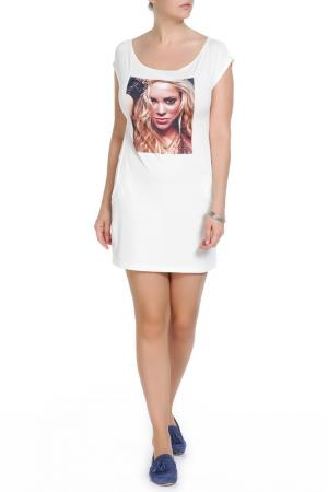 Платье-туника Majaly. Цвет: бежевый