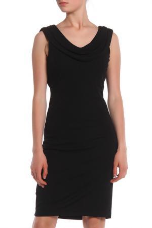 Приталенное строгое платье Apanage. Цвет: черный