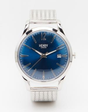 Henry London Часы из нержавеющей стали Knightsbridge. Цвет: серебряный