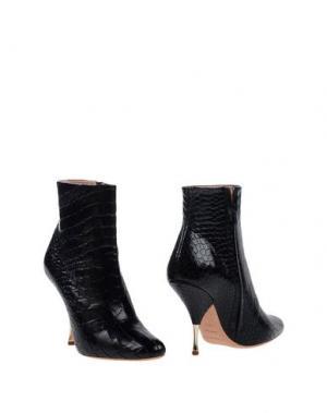 Полусапоги и высокие ботинки ROCHAS. Цвет: черный
