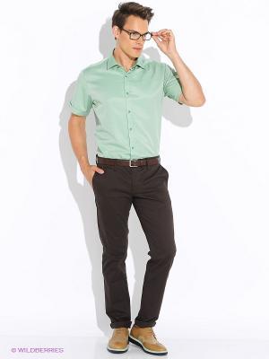 Рубашка BAWER. Цвет: зеленый