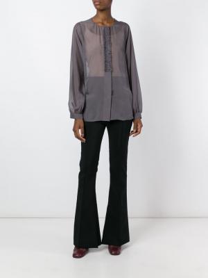 Блузка с длинными рукавами Dorothee Schumacher. Цвет: серый
