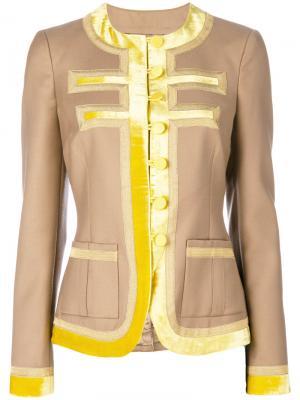 Куртка с контрастной отделкой Givenchy. Цвет: телесный