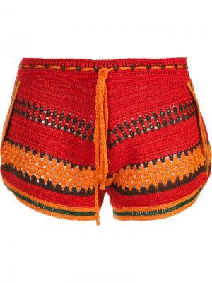 Knitted shorts Spencer Vladimir. Цвет: красный