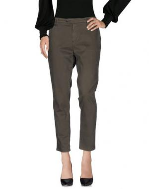 Повседневные брюки OAKS. Цвет: зеленый-милитари