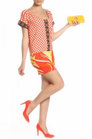 Платье Marcobologna. Цвет: оранжевый