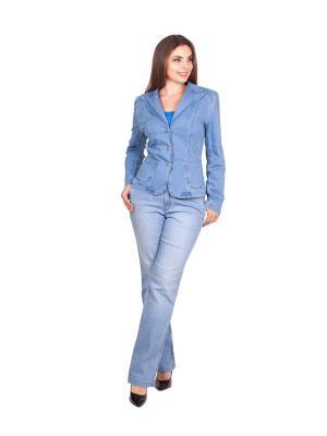 Пиджак LAFEI-NIER. Цвет: голубой
