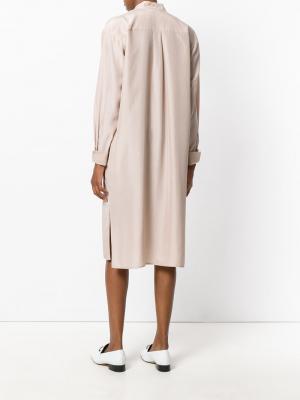 Платье-рубашка в пижамном стиле Toteme. Цвет: розовый и фиолетовый