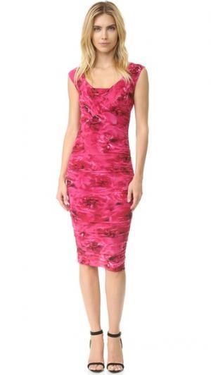 Платье без рукавов Fuzzi. Цвет: porpora