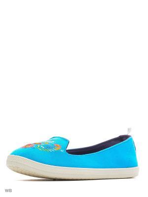 Слиперы CentrShoes. Цвет: голубой