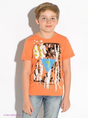 Футболка GUESS. Цвет: светло-оранжевый