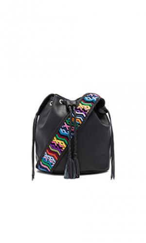 Маленькая классическая сумка бакет quixote STELA 9. Цвет: черный