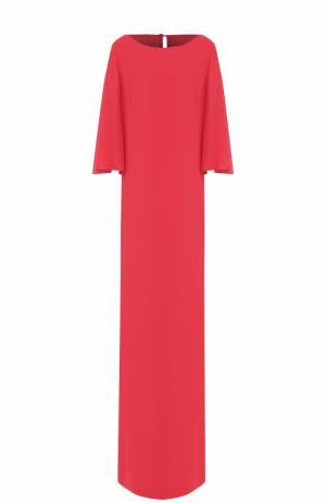 Платье-макси прямого кроя St. John. Цвет: фуксия