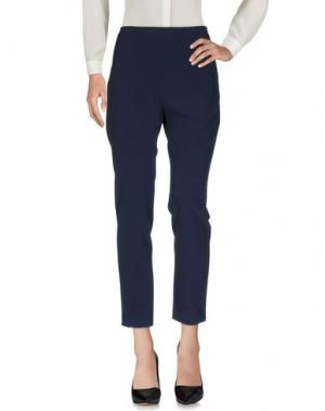 Повседневные брюки PF PAOLA FRANI. Цвет: темно-синий