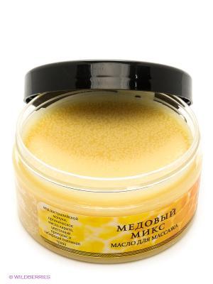 Масло для массажа Медовый микс PLANETA ORGANICA. Цвет: желтый