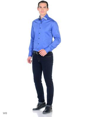 Рубашка VipDressCode. Цвет: синий