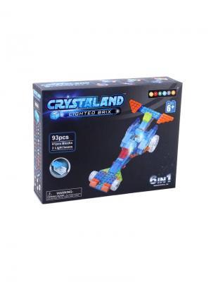 Светящийся конструктор Crystaland Гонка 6в1 93 детали Neocube. Цвет: фиолетовый