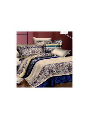 Постельное белье Vitraj 1,5 сп. Amore Mio. Цвет: бежевый, белый, голубой, синий