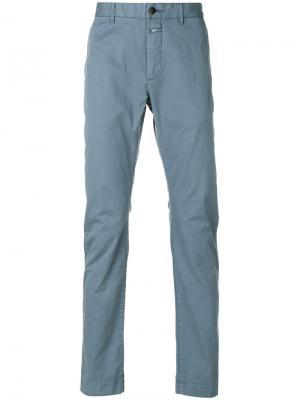 Узкие брюки-чинос Closed. Цвет: синий