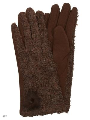 Перчатки Palantini. Цвет: коричневый
