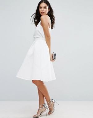Jessica Wright Фактурная юбка для выпускного. Цвет: белый