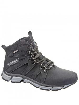 Ботинки Crosby. Цвет: черный, серый