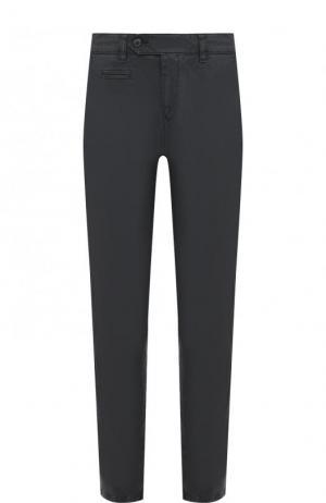 Хлопковые брюки прямого кроя Bogner. Цвет: черный