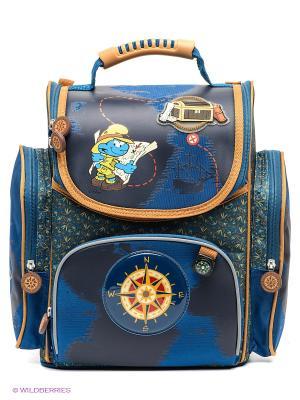 Рюкзак Смурфики. Цвет: синий