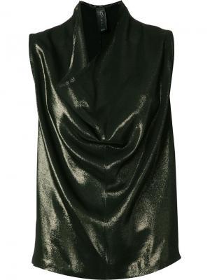 Драпированная блузка Zero + Maria Cornejo. Цвет: зелёный