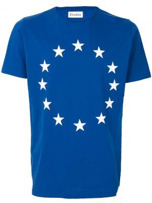 Футболка Europa Études. Цвет: синий