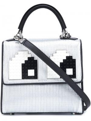 Мини сумка на плечо  Alex Eyes Les Petits Joueurs. Цвет: серый