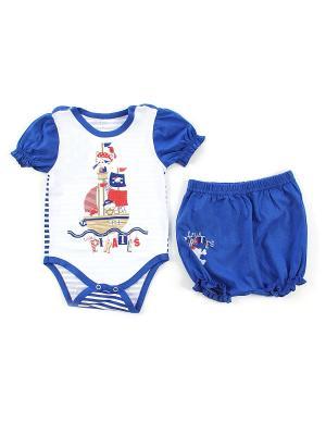 Комплект одежды Апрель. Цвет: голубой, белый