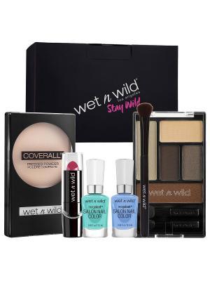 Набор в подарочной коробке WET&WILD №3 Wet n Wild. Цвет: черный, голубой, зеленый